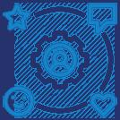 blue impact network image