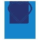 blue philanthropy heart hand image